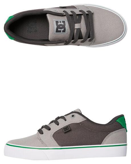 GREY GREY GREEN MENS FOOTWEAR DC SHOES SNEAKERS - 320040XSSG