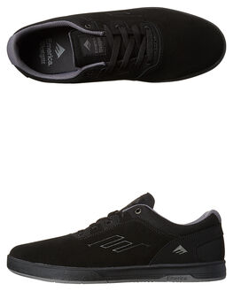 BLACK GREY GREY MENS FOOTWEAR EMERICA SKATE SHOES - 6102000108571