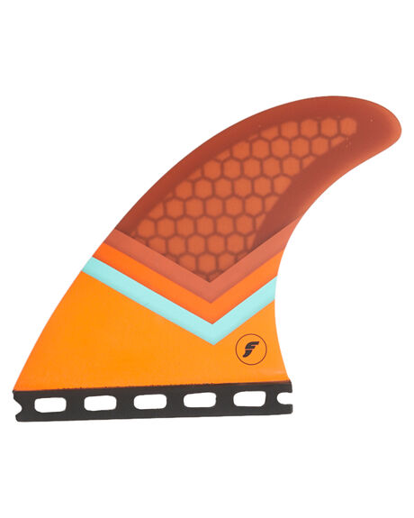 TEAL ORANGE BROWN BOARDSPORTS SURF FUTURE FINS FINS - 1107-167-00TELO