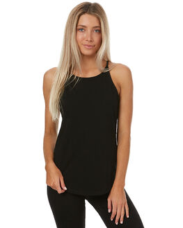 BLACK WOMENS CLOTHING SWELL SINGLETS - S8161280BLK
