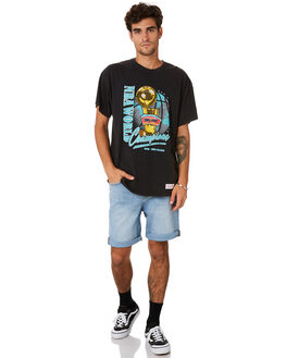 SPURS BLACK MENS CLOTHING MITCHELL AND NESS TEES - 4173VINTAGEPCHAMPSPB