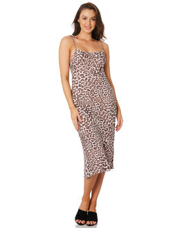 LEOPARD WOMENS CLOTHING TIGERLILY DRESSES - T392492LEO