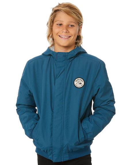 MAJOLICA BLUE KIDS BOYS QUIKSILVER JUMPERS + JACKETS - EQBJK03194-BSM0