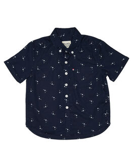 NAVY WHITE KIDS BOYS ROOKIE BY THE ACADEMY BRAND TOPS - R19S842NVYWH