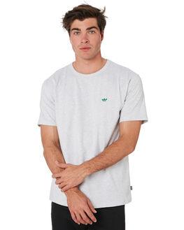 GREY HEATHER GREEN MENS CLOTHING ADIDAS TEES - EC7379GRYHT