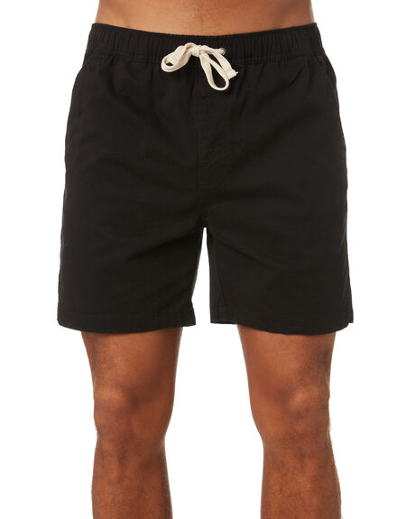 BLACK MENS CLOTHING SWELL SHORTS - S5221240BLK