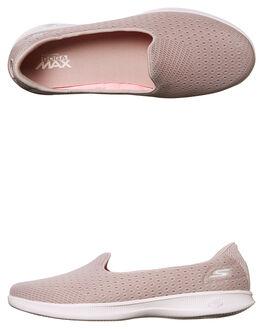 TAUPE WOMENS FOOTWEAR SKECHERS SLIP ONS - 14468TPE