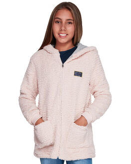 CLOUD PINK KIDS GIRLS ROXY JUMPERS + JACKETS - ERGPF03016-MCW0