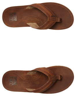BROWN BROWN MENS FOOTWEAR REEF THONGS - A39TPBR2