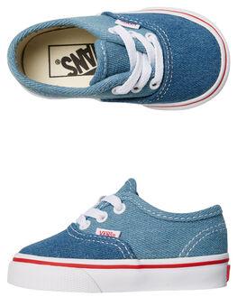 BLUE WHITE KIDS TODDLER BOYS VANS FOOTWEAR - VNA38E7Q69BLU