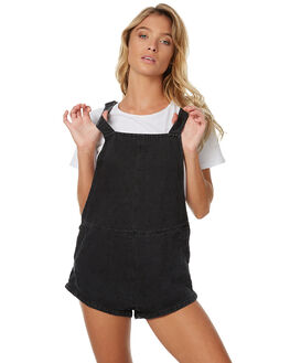 FADED BLACK WOMENS CLOTHING THRILLS PLAYSUITS + OVERALLS - WTDP-920BFBLK