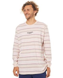 DUSTY ROSE MENS CLOTHING STUSSY TEES - ST073104DROS