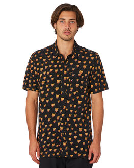 BLACK MENS CLOTHING VOLCOM SHIRTS - A0411907BLK