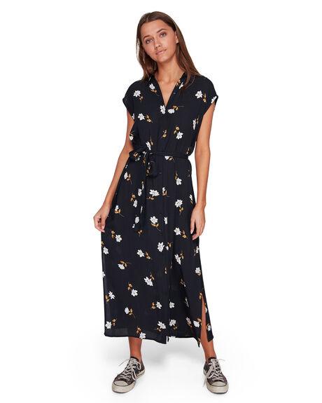 BLACK FLORAL WOMENS CLOTHING BILLABONG DRESSES - BB-6592489-B4F