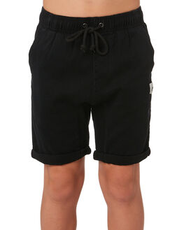 BLACK KIDS BOYS RUSTY SHORTS - WKB0268BLK