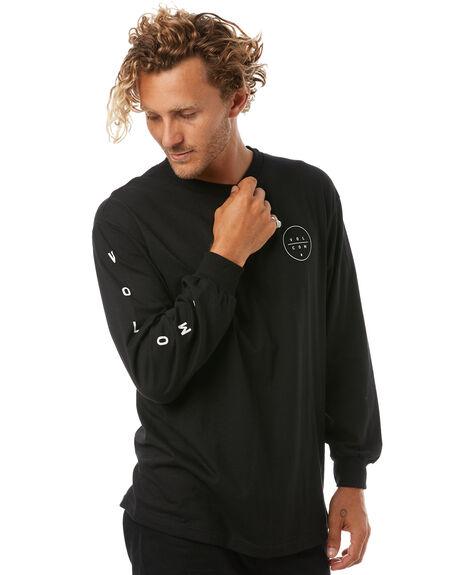 BLACK MENS CLOTHING VOLCOM TEES - A36417V0BLK