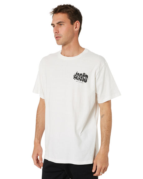 WASHED WHITE MENS CLOTHING MISFIT TEES - MT011005WSWHT