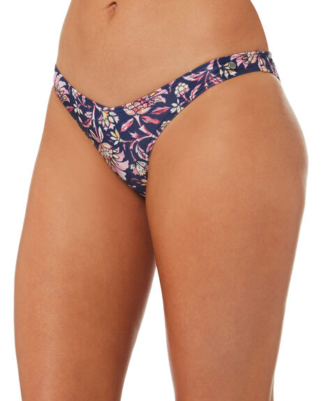 NAVY FLORAL OUTLET WOMENS ALL ABOUT EVE BIKINI BOTTOMS - 6428027NVYFL