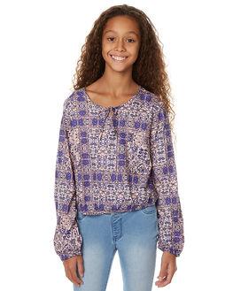 MOSAIC BLUE KIDS GIRLS BILLABONG FASHION TOPS - 5575092MOS