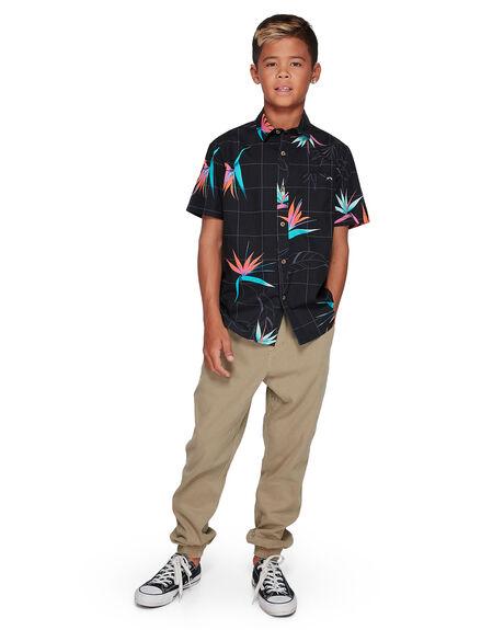 BLACK/ORANGE KIDS BOYS BILLABONG TOPS - BB-8507202-BON