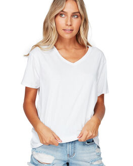 WHITE WOMENS CLOTHING BILLABONG TEES - BB-6592131-WHT