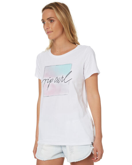 WHITE WOMENS CLOTHING RIP CURL TEES - GTERP11000
