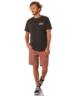 WASHED BLACK MENS CLOTHING RIP CURL TEES - CTEOX28264