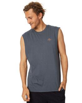 DARK SLATE MENS CLOTHING THRILLS SINGLETS - TH7-107BDSLT