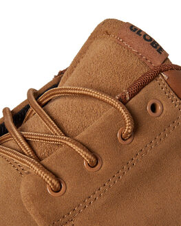 TOBACCO BROWN MENS FOOTWEAR GLOBE SKATE SHOES - GBGSCHUKKA-16189