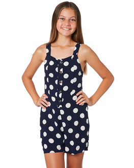 NAVY WHITE KIDS GIRLS EVES SISTER DRESSES + PLAYSUITS - 9520066NAVY