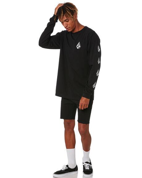 BLACK MENS CLOTHING VOLCOM TEES - A3612004BLK