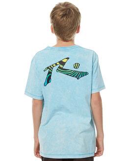 MALIBU BLUE KIDS BOYS RUSTY TEES - TTB0543MBU