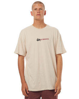 PALE GREY MENS CLOTHING STUSSY TEES - ST071015PGRY