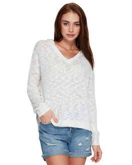 MARSHMALLOW WOMENS CLOTHING ROXY KNITS + CARDIGANS - ERJSW03297WBT0
