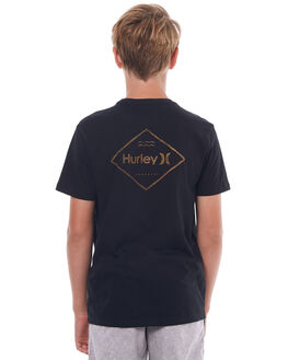 BLACK KIDS BOYS HURLEY TEES - ABTSPSCH00A