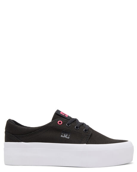 BLACK/FUCHSIA WOMENS FOOTWEAR DC SHOES SNEAKERS - ADJS300184-BFU