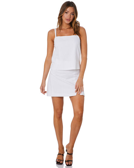 WHITE WOMENS CLOTHING NUDE LUCY SKIRTS - NU23959WHT