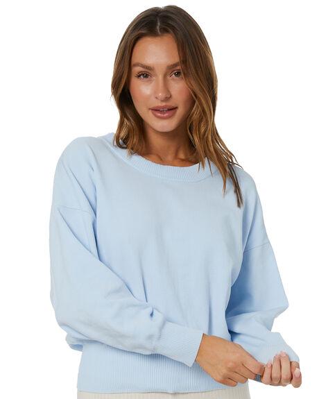 COOL BLUE WOMENS CLOTHING ZULU AND ZEPHYR KNITS + CARDIGANS - ZZ3453CBLU