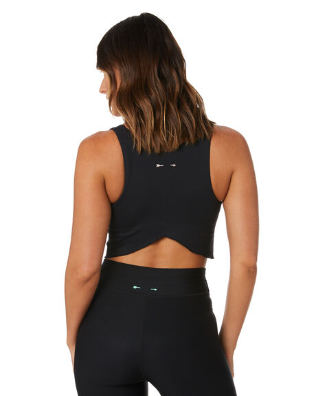 BLACK WOMENS CLOTHING THE UPSIDE ACTIVEWEAR - USW121076BLK