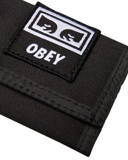 BLACK MENS ACCESSORIES OBEY WALLETS - 100310099BLK