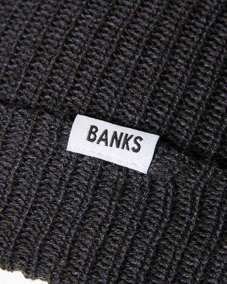 HEATHER BLACK MENS ACCESSORIES BANKS HEADWEAR - BE0025HBLU
