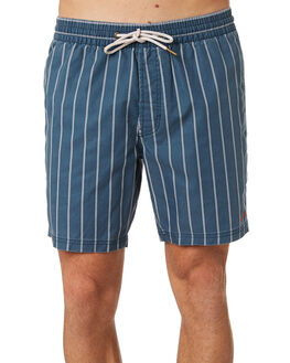 NAVY STRIPE MENS CLOTHING BARNEY COOLS BOARDSHORTS - 604-CC1NVYST