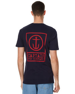 NAVY MENS CLOTHING CAPTAIN FIN CO. TEES - CFM3221600NVY
