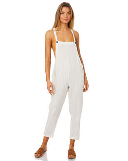 WHITE WOMENS CLOTHING RHYTHM PLAYSUITS + OVERALLS - JUL18W-JS02-WHT