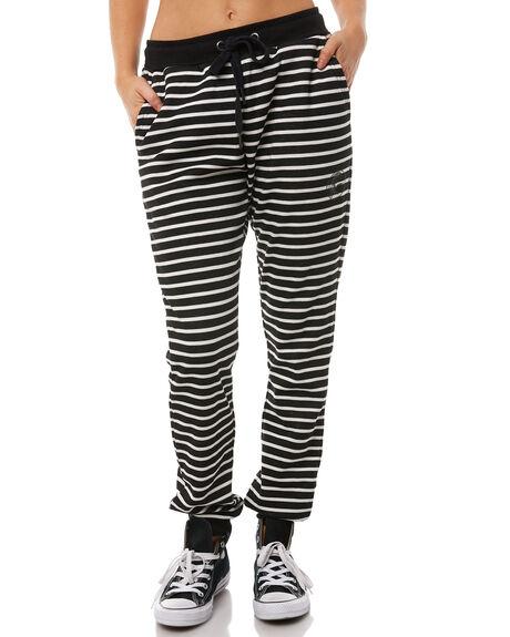 BLACK STRIPE WOMENS CLOTHING O'NEILL PANTS - 4523104623