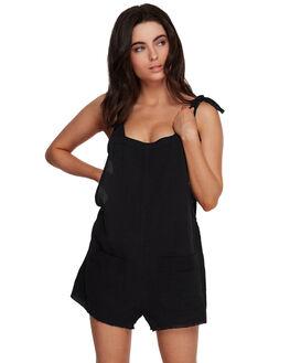BLACK WOMENS CLOTHING BILLABONG PLAYSUITS + OVERALLS - BB-6591153-BLK