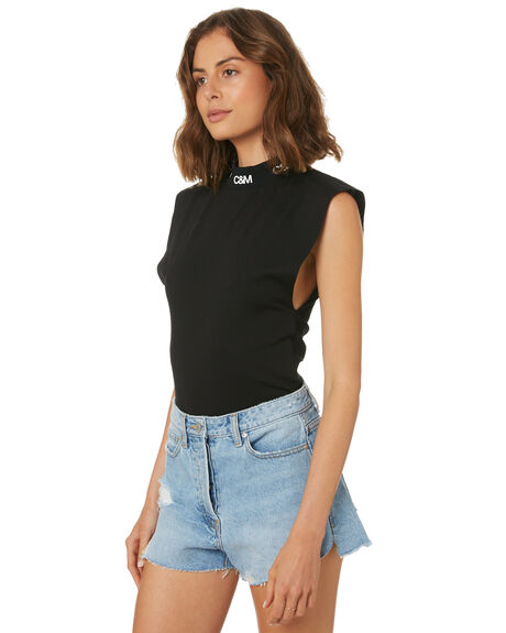 BLACK WOMENS CLOTHING C&M CAMILLA AND MARC FASHION TOPS - SCMT6802BLK