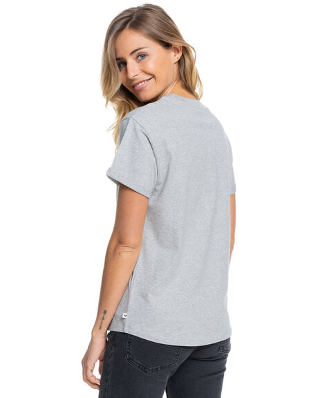 HERITAGE HEATHER WOMENS CLOTHING ROXY TEES - ERJZT05122-SGRH