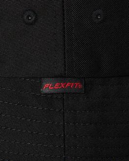 BLACK MENS ACCESSORIES FLEX FIT HEADWEAR - COS80654BLK