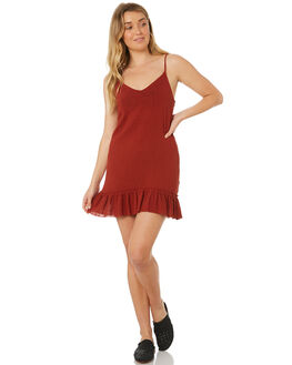 BURNT RED WOMENS CLOTHING SOMEDAYS LOVIN DRESSES - IL18F1471BRED